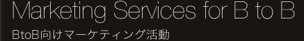 Marketing Services for B to B BtoB向けマーケティング活動